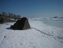 Πάγος στον ανώτερο λιμνών Στοκ φωτογραφίες με δικαίωμα ελεύθερης χρήσης