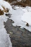 Πάγος στον ποταμό στο χειμώνα Στοκ Εικόνα