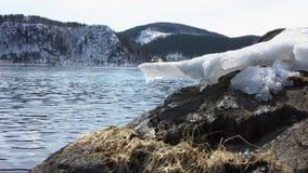 Πάγος στον ποταμό απόθεμα βίντεο
