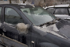 Πάγος στο αυτοκίνητο Στοκ φωτογραφίες με δικαίωμα ελεύθερης χρήσης
