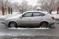 Πάγος στο αυτοκίνητο Στοκ Φωτογραφίες