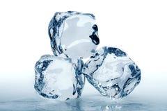 πάγος τρία κύβων Στοκ Φωτογραφία