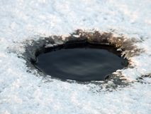πάγος τρυπών στοκ φωτογραφίες