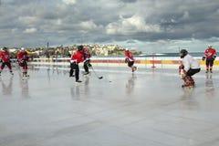 πάγος χόκεϋ παραλιών Στοκ Εικόνα