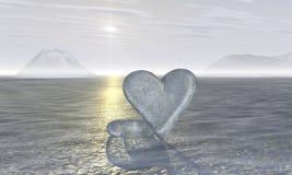 πάγος 2 καρδιών Στοκ Εικόνα