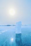 Πάγος Baikal της λίμνης στη Σιβηρία στοκ εικόνες με δικαίωμα ελεύθερης χρήσης