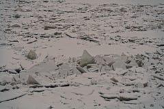 Πάγος hummocks στον ποταμό Neva Στοκ Φωτογραφίες