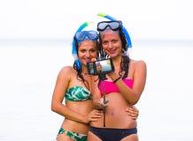 Πάγωμα της στιγμής πρίν κολυμπά με αναπνευτήρα Στοκ φωτογραφίες με δικαίωμα ελεύθερης χρήσης