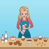 Πάγωμα Cupcake Στοκ φωτογραφία με δικαίωμα ελεύθερης χρήσης