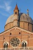Πάδοβα, Ιταλία - 24 Αυγούστου 2017: οικοδόμημα της επισκοπικής βασιλικής Αγίου Anthony της Πάδοβας Στοκ Φωτογραφίες