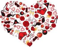 Πάθος καρδιών Στοκ Φωτογραφία