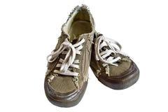 πάνινα παπούτσια άλματος Στοκ Εικόνες