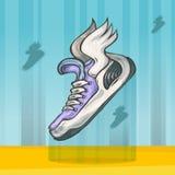 Πάνινα παπούτσια με τα φτερά Στοκ φωτογραφία με δικαίωμα ελεύθερης χρήσης