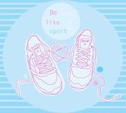 Πάνινα παπούτσια μόδας Στοκ Εικόνα