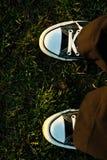 Πάνινα παπούτσια στον ήλιο στοκ φωτογραφία