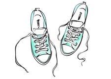 πάνινα παπούτσια διανυσματική απεικόνιση