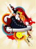 πάνινο παπούτσι απεικόνιση& Στοκ εικόνες με δικαίωμα ελεύθερης χρήσης