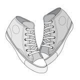 Πάνινο παπούτσι που σκιαγραφείται κλασικό Στοκ φωτογραφία με δικαίωμα ελεύθερης χρήσης