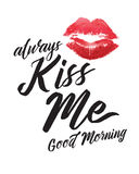 Πάντα με φιλήστε καλημέρα Στοκ Εικόνες