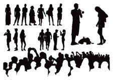 Πάνω από πενήντα σκιαγραφίες στοκ φωτογραφία με δικαίωμα ελεύθερης χρήσης