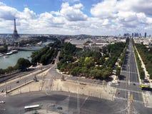 Πάνω από το Παρίσι Στοκ φωτογραφία με δικαίωμα ελεύθερης χρήσης
