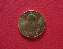 Πάπας Βενέδικτος XVI νόμισμα 50 σεντ Στοκ φωτογραφίες με δικαίωμα ελεύθερης χρήσης
