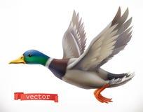Πάπια Τρισδιάστατο διανυσματικό εικονίδιο κυνηγιού ελεύθερη απεικόνιση δικαιώματος