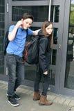 Πάρα πολύ αργά, η σχολική πόρτα είναι κλειστή Στοκ Φωτογραφίες