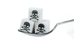 Πάρα πολλή ζάχαρη είναι επιβλαβής Στοκ Εικόνες