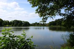 Πάρκα και λίμνες της Δανίας Στοκ εικόνα με δικαίωμα ελεύθερης χρήσης