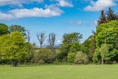 Πάρκα Scotlands και πρασινάδα Lucious σε Fullerton από Troon Σκωτία στοκ φωτογραφία με δικαίωμα ελεύθερης χρήσης