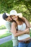 πάρκο αγάπης ζευγών στοκ φωτογραφίες με δικαίωμα ελεύθερης χρήσης