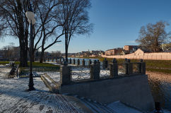 Πάρκο βελών το χειμώνα kharkov Ουκρανία Χειμώνας - 2014 Στοκ Φωτογραφίες