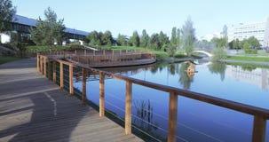 πάρκο γεφυρών ξύλινο απόθεμα βίντεο