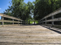 πάρκο γεφυρών ξύλινο Στοκ Εικόνες
