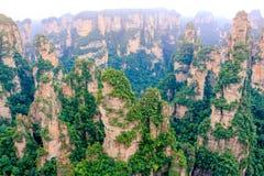 Πάρκο εθνικών δρυμός Zhangjiajie, Wulingyuan, Κίνα Στοκ Εικόνες