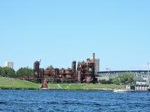 Πάρκο εργοστασίων παραγωγής αερίου στο Σιάτλ Στοκ Εικόνες