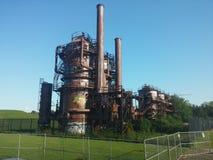 Πάρκο εργοστασίων παραγωγής αερίου Στοκ Φωτογραφία