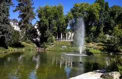 Πάρκο θερέτρου σε Marianske Lazne Στοκ φωτογραφία με δικαίωμα ελεύθερης χρήσης