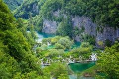 Πάρκο λιμνών Plitvice στην Κροατία Στοκ εικόνες με δικαίωμα ελεύθερης χρήσης