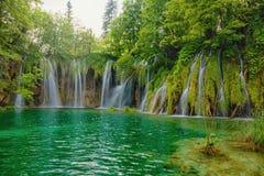 Πάρκο λιμνών Plitvice στην Κροατία Στοκ Φωτογραφία
