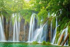 Πάρκο λιμνών Plitvice στην Κροατία Στοκ Φωτογραφίες