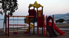 Πάρκο και θάλασσα απόθεμα βίντεο
