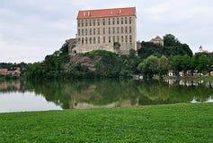 Πάρκο και Castle Plumlov, Δημοκρατία της Τσεχίας, Ευρώπη Στοκ Φωτογραφίες