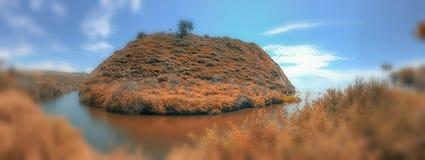 Πάρκο κομητειών παραλιών υποζυγίων Arroyo το φθινόπωρο, Καλιφόρνια πανοραμικός Στοκ φωτογραφία με δικαίωμα ελεύθερης χρήσης
