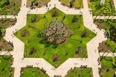 Πάρκο λουλουδιών στο Γκρόζνυ Στοκ Εικόνα