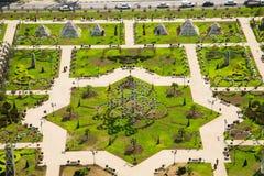 Πάρκο λουλουδιών στο Γκρόζνυ Στοκ εικόνες με δικαίωμα ελεύθερης χρήσης