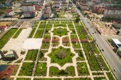 Πάρκο λουλουδιών στο Γκρόζνυ Στοκ Εικόνες