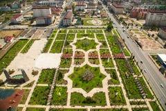 Πάρκο λουλουδιών στο Γκρόζνυ Στοκ Φωτογραφίες