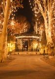 Πάρκο με τη διακόσμηση Χριστουγέννων Στοκ Φωτογραφία